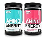 Optimum Nutrition Essential Amino Energy 2 Flavor Value Pack | Blueberry Mojito + Watermelon (30 Serv Each) for Mental Focus, Energy + Post-Workout Recovery