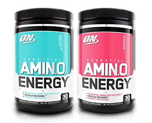 Optimum Nutrition Essential Amino Energy 2 Flavor Value Pack | Blueberry Mojito + Watermelon (30 Serv Each) for Mental Focus, Energy + Post-Workout Recovery by Optimum Nutrition / ON