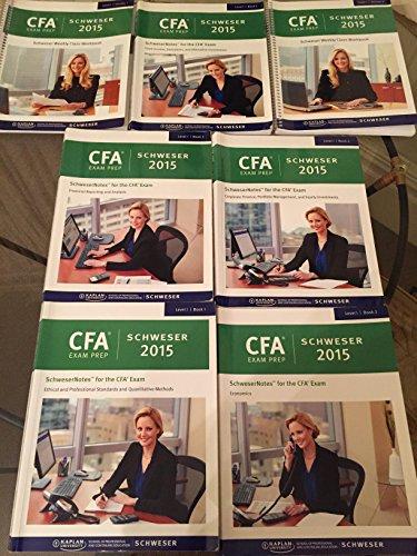 Kaplan Schweser 2015 CFA Level 1 Notes Package + Quicksheet + 6 Full Practice Exams