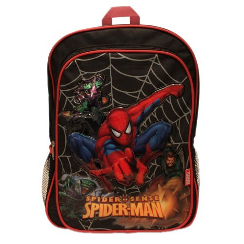 Spiderman Spider Sense Large Black Backpack