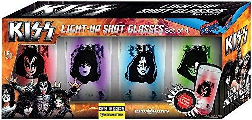 KISS Blinking Plastic Mini Glasses Set of 4 - Conv. Excl.