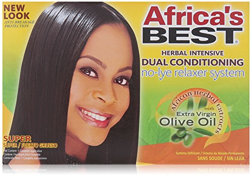 Africa's Best Super No-lye Dual Conditioning Relaxer System, (Pack of 2) by Africa's Best