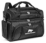Cold Polar By Absolute Zero - Premium Soft Cooler Lunch Bag For Adults – Insulated Cooler W/ Compartments –Ideal For Meal Prep Containers – Multiple Zippered Mesh Pockets & Adjustable Straps