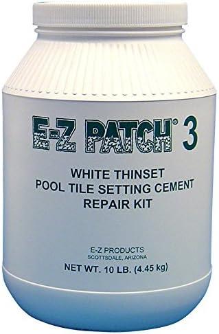 ez patch 3 white thinset pool tile repair cement 10 lb