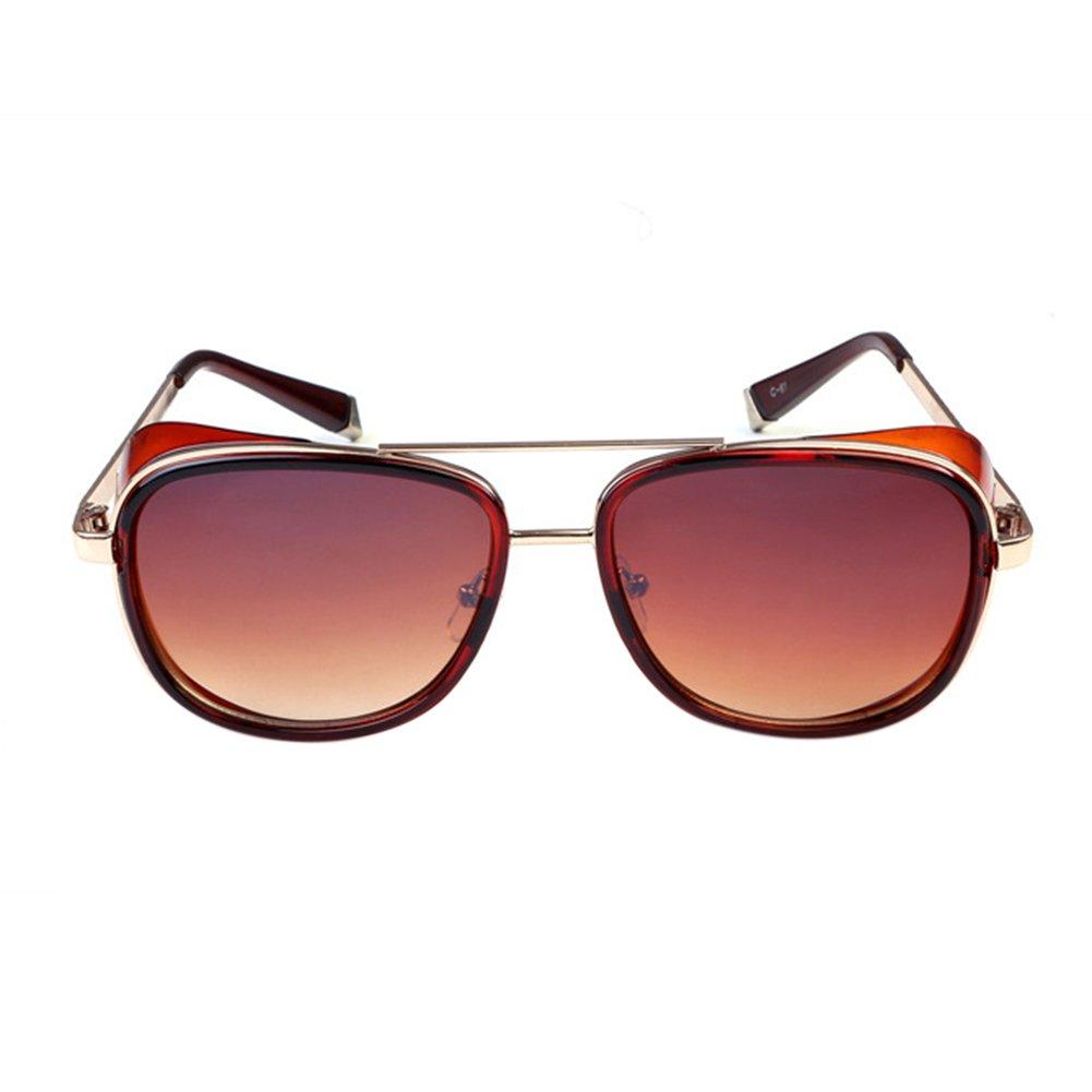 BEESCLOVER Fashion Square Frame Windshield Sunglasses Outdoor Retro Traveling Glasses Eyewear