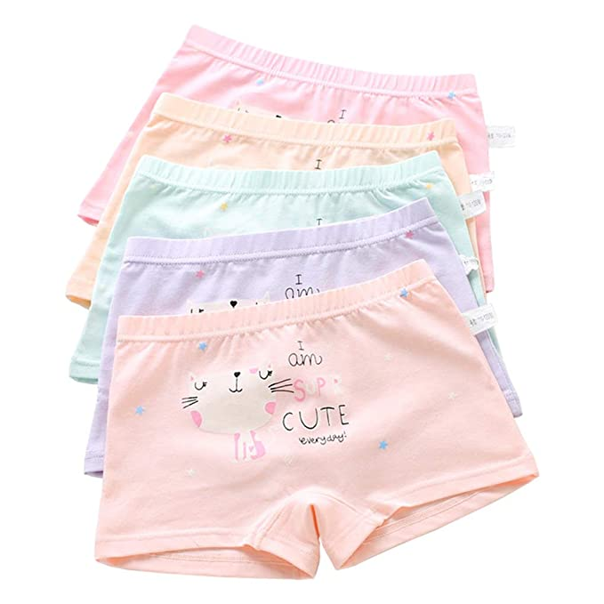 e370b6650445 Girls Little Stars Pussy Cat Princess Panties Cotton Boyshort Hipster  Underwear Size M/2-