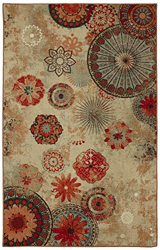 Mohawk Home Alexa Medallion Indoor/ Outdoor Printed Area Rug, 5'x8', Multicolor (Rugs Inexpensive Patio Outdoor)