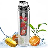 AVOIN colorlife 27oz. Sport Tritan Fruit Infuser Water Bottle(Many Color Option) - BPA Free