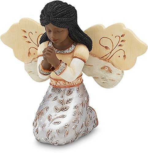 Black Angels Ornaments (Elements In Faith Ebony Angel Figurine by Pavilion, 3-1/2-Inch,)