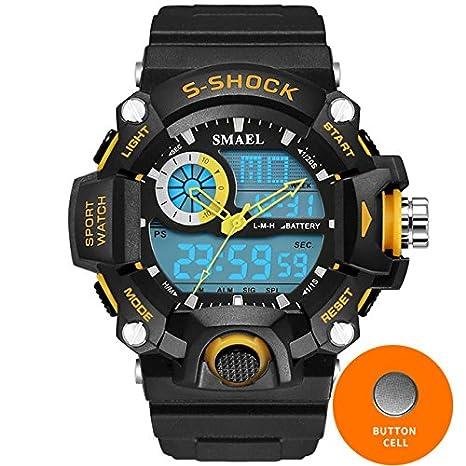 smael relojes hombres militares del ejército Mens Reloj Reloj electrónico Digital Led Sport reloj de pulsera reloj de macho 1385 S Shock reloj deportivo ...