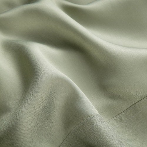 Luxurious Bamboo Viscose Sheet Set - Sage - Gingko Green - Twin XL - Perfect for College Dorm Bedding! by Silken Wool Bamboo Linen (Image #1)