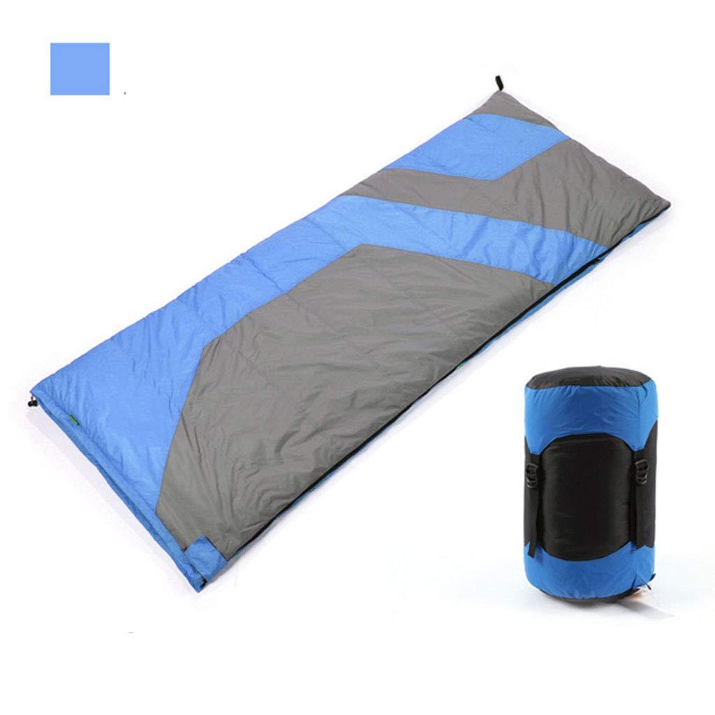 Enveloppe De Sac De Couchage en Plein Air pour Adulte, Sacs De Couchage en Duvet Légers pour Camping 2 Saisons, 215  78CM bleu -