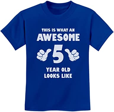 Captain 5th Birthday Gift for Five Years old Youth Kids Long Sleeve T-Shirt