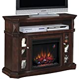 ClassicFlame Bellemeade TV Stand for TVs up to 60  with 23  Electric Fireplace, Espresso