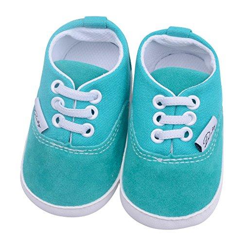 Hzjundasi Baby Schuhe Junge Mädchen Segeltuch Kleinkind Anti-Rutsch Erstes Gehen Krippe Schuh 0-24 Monate 12 Farbe Blau