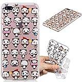 iPhone 7 Plus Case, iPhone 8 Plus Case, MerKuyom Scratch Resistant [Clear Transparent] [Slim-Fit] [Flexible Gel] Soft TPU Case Cover +Stylus for iPhone 7 Plus/iPhone 8 Plus (So Lovely Pandas)