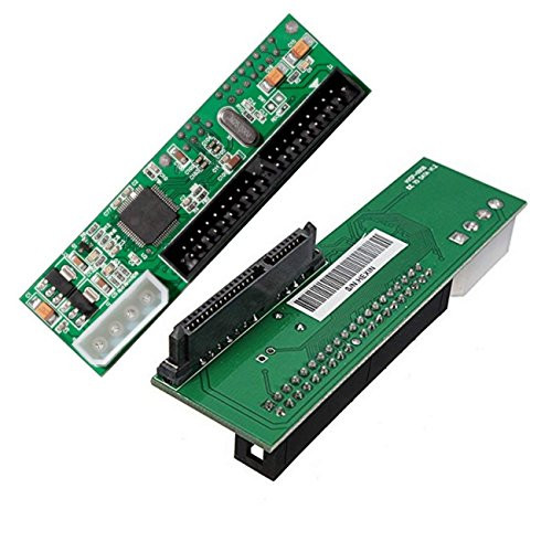 to 3.5 inch IDE Adapter, 2.5 or 3.5 Inch HDD or SSD SATA Hard Drive to 40 Pin 3.5 Inch PATA Desktop Converter Card ()