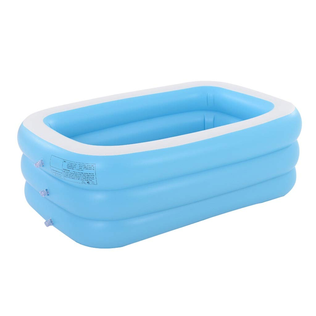 ファミリー用インフレータブルプール、ポータブル、折りたたみ容易、成人用浴槽、子供用インフレータブルパドリングプール、バスタブと水泳、折りたたみプール、青、3サイズ M