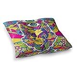 KESS inhouse roberlan Calavera Rainbow Ilustración cuadrados almohada X 66cm