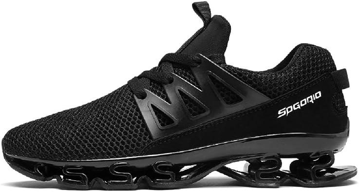 XIDISO - Zapatillas de Running para Hombre y Mujer, Estilo Informal, Deportivas, de Tenis, Caminar, de Malla, Color Negro, Talla 44 EU: Amazon.es: Zapatos y complementos