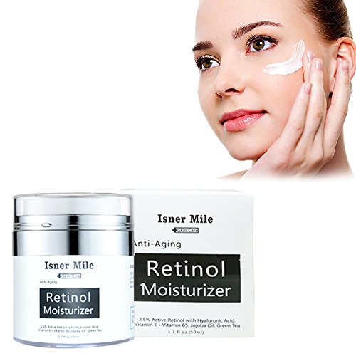 - VOLLUCK Retinol Moisturizer Cream for Face - Best Day and Night Anti Aging Formula to Reduce Wrinkles, Fine Lines & Even Skin Tone,Gifts for Women (1.7Fl Oz)