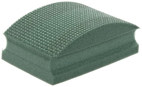 (Norton HP60 Conventional Curved Nonwoven Abrasive Hand Pad, Green Color, Diamond, Grit 60 (Pack of 1) )