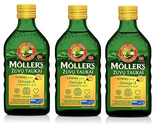 Moller Omega 3 Liver Oil Nordic Omega 3 6 9 Dietary Supplement with EPA, DHA, Vitamin A, D, E Superior Taste Award High…
