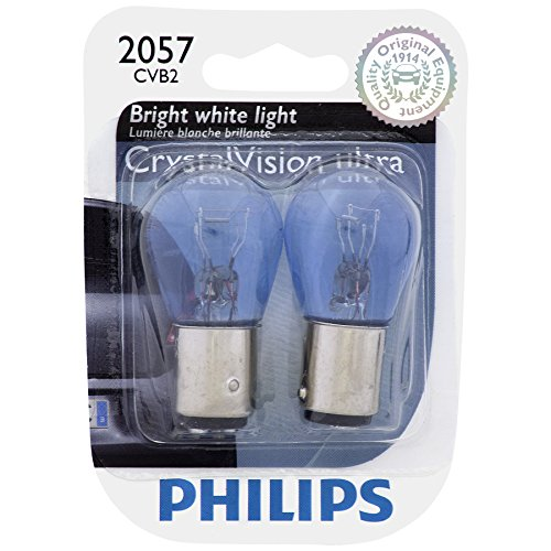 Philips 2057CVB2 2057 CrystalVision ultra Miniature Bulb, 2 - Miniature 2057