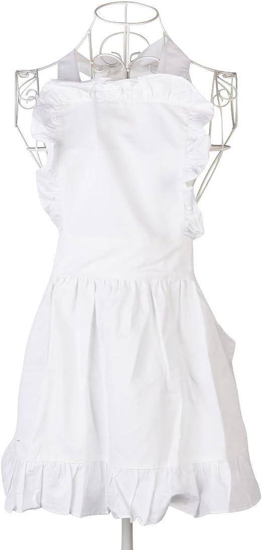 ounona Mujeres delantales Delantal de algodón Vintage Retro ...