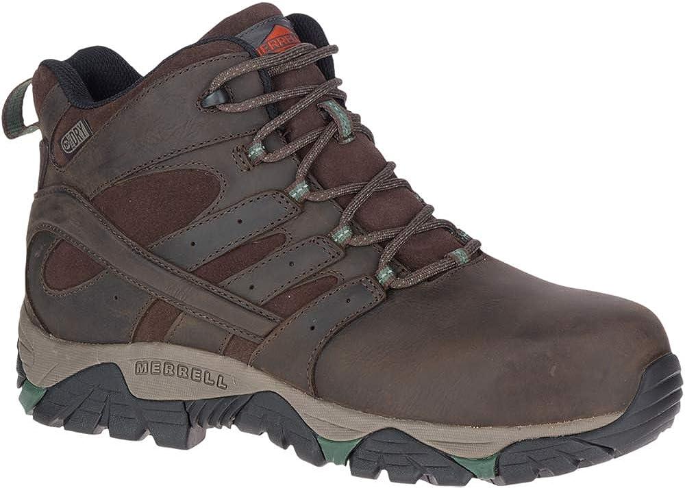 Merrell Moab Vertex Mid Leather Waterproof Comp Toe Work Boot Men s