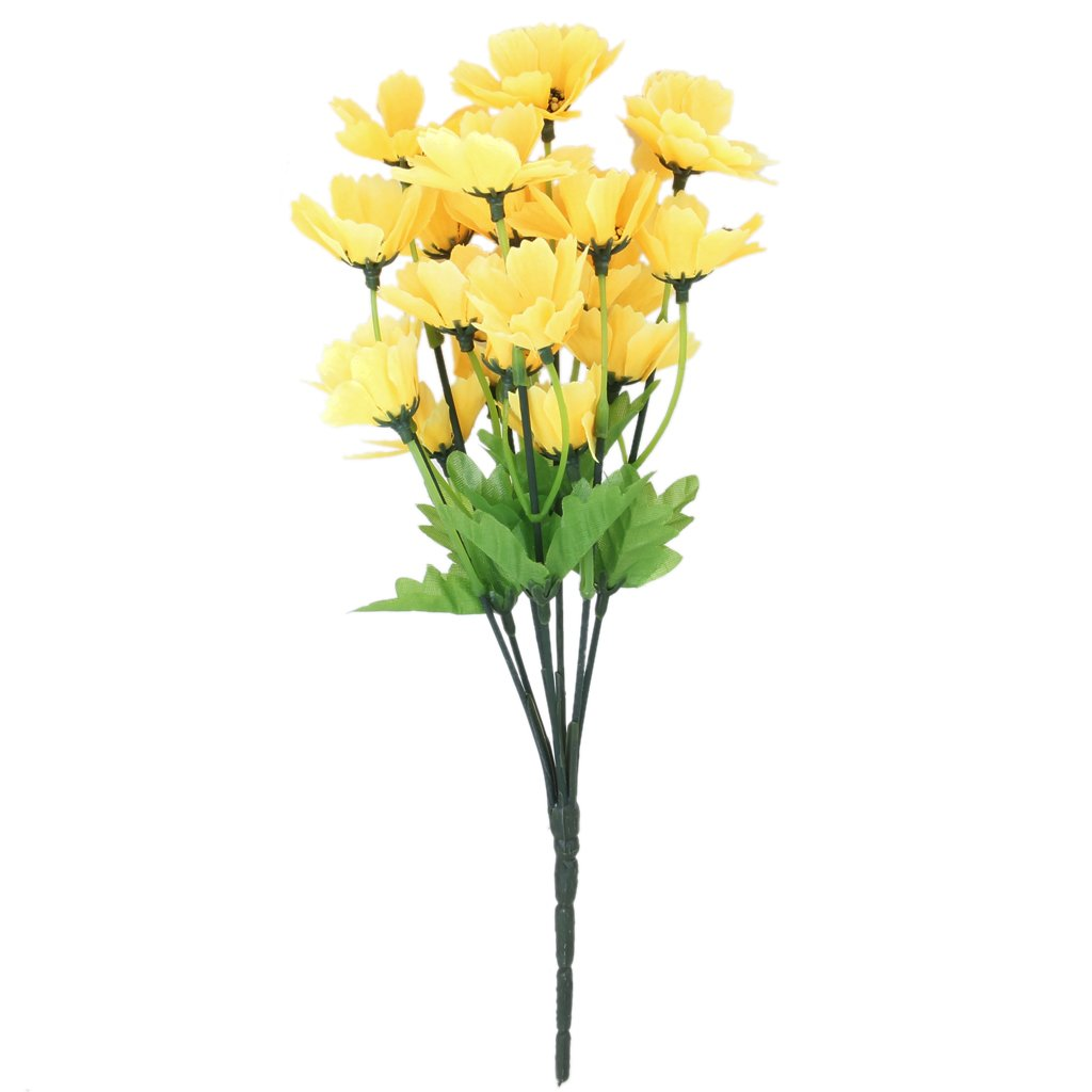 1 Bunch of Artificial Oriental Cherry Flower Blossom Bouquet Home/Office/Party Decoration (Yellow) BHBAZUHAZA1969