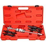 8milelake 5PCS Inner Bearing Blind Hole Remover Extractor Puller Set Slide Hammer Tool Kit