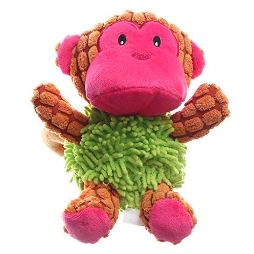 IFOYO Dog Plush Toy, Pet Dog Toy Tough Dog Squeaky Toy Cute Dog Teething Toy for Medium Small Dogs, Monkey]()
