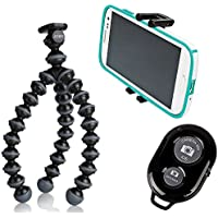 Joby Flexible Gorillapod Tripod w/ GRIPTIGHT Mount Adapter For iOS, Android, HTC and Most Smartphones and a Bluetooth Wireless Remote Control