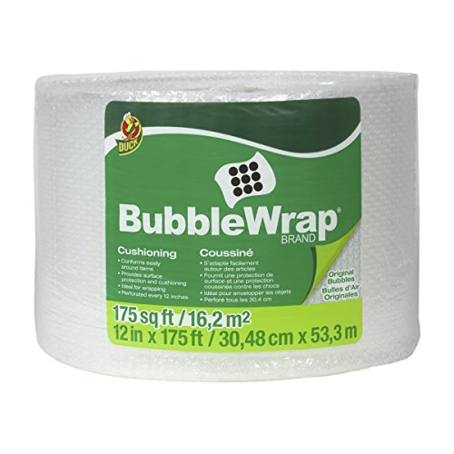 (Duck Brand Bubble Wrap Roll, Original Bubble Cushioning, 12