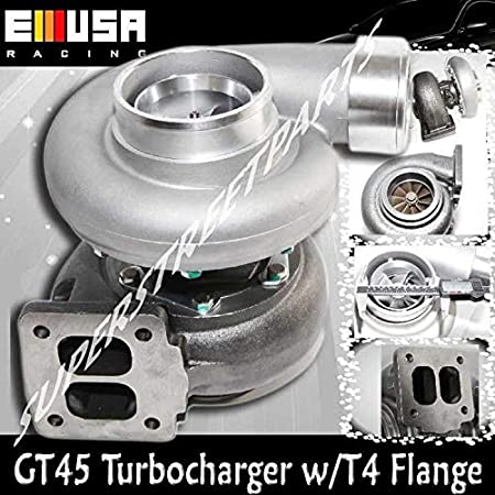 "Amazon.com: GT45 HUGE GT45 Turbo/Turbocharger 800+HP Boost Universal T4/T66 3.5"" V-Band 1.05: Automotive"
