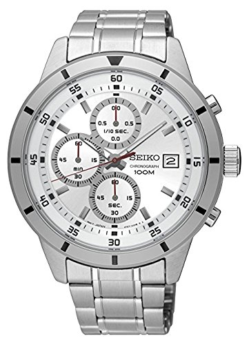 Seiko De los hombres Cronógrafo Reloj de pulsera de acero inoxidable especial valor sks573: Amazon.es: Relojes