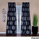 Lambrequin Arabella 84 in. L Flocked Curtain Panel – 54 x 84 Black Review