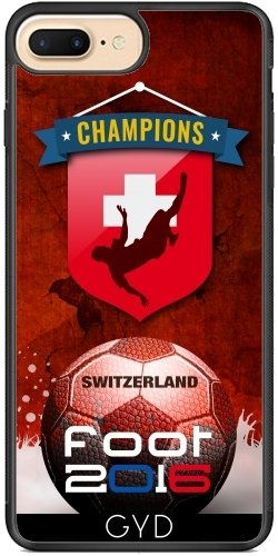 Coque Silicone pour Iphone 7 Plus / 8 Plus - Pied 2016 Suisse by comlaprom