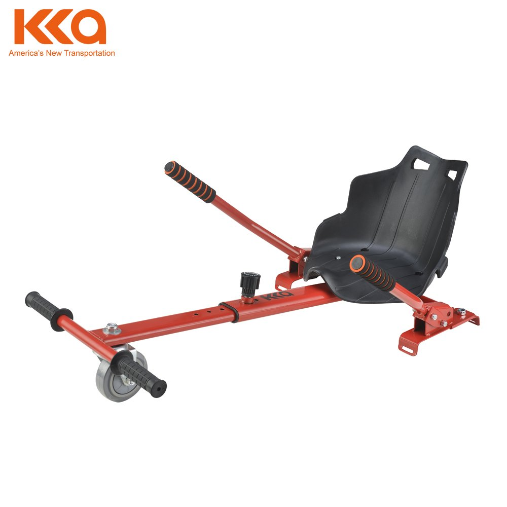 KKA BETTER WHEELS Mini Kart Hoverboard Accessories for Adjustable red All Ages All Heights Hoverboard Seat Attachment Fits Self Balancing Scooter Go Cart Frame