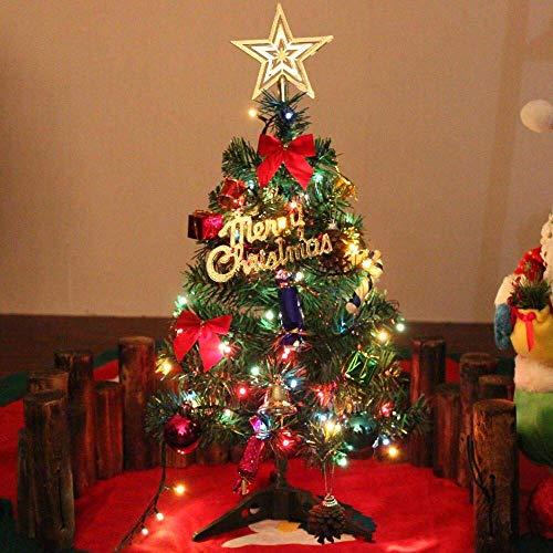 24 Tabletop Christmas Tree, Miniature Pine Christmas Tree with Hanging Ornaments, Xmas Decoration Tree Décor (Xmas Tree)