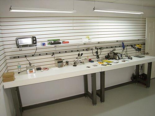 LeonLite 40W 4ft Linkable LED Utility Shop Light, Double-Tube T8 LED, 4000lm 120W Equivalent, ETL & Energy Star Certified Suit for Garage, Workbench, Office, Warehouse, 4000K Cool White, Pack of 4 by LEONLITE (Image #5)
