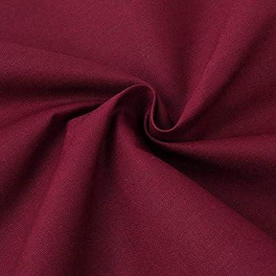 Tela de algodón 1,45x20 m burdeos: Amazon.es: Hogar