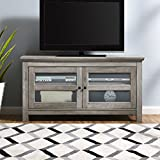 WE Furniture AZQ44CFDGW TV Stand, Gray Wash