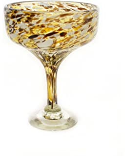 Amber Swirl Margarita Glass Dozen Orion Trading G266-AS 15 Oz