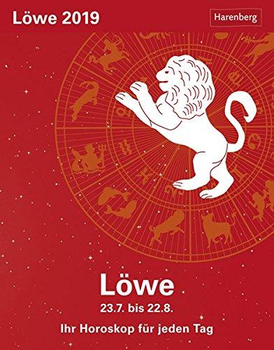 Löwe - Kalender 2019: Ihr Horoskop für jeden Tag Kalender – 26. Juni 2018 Harenberg Robert Satorius Athesia Kalenderverlag GmbH 3840017440