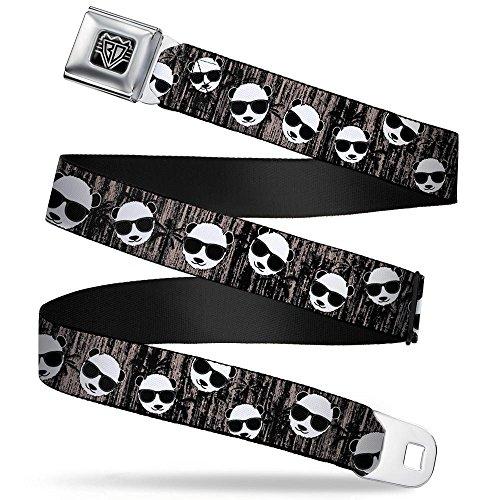 Buckle-Down Seatbelt Belt - Panda w/Sunglasses & Palm Trees - 1.0