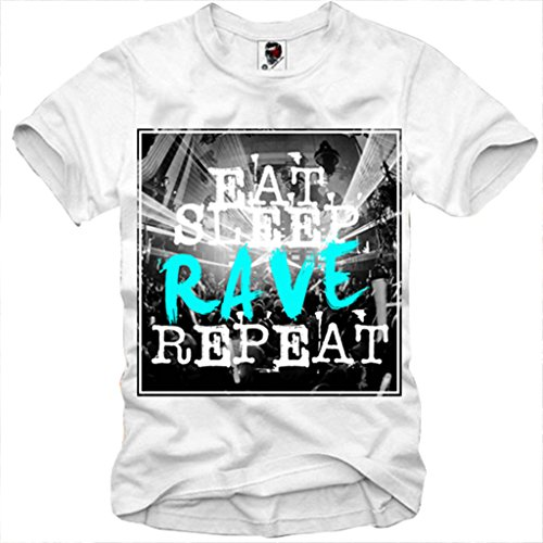 E1SYNDICATE T-SHIRT EAT SLEEP RAVE REPEAT PARTY MDMA ECSTASY S-XL