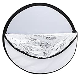Andoer 24-Inch 60cm 5 in 1(Gold, Silver, White, Black and Translucent) Portable Photography Studio Multi Photo Disc Collapsible Light Reflector