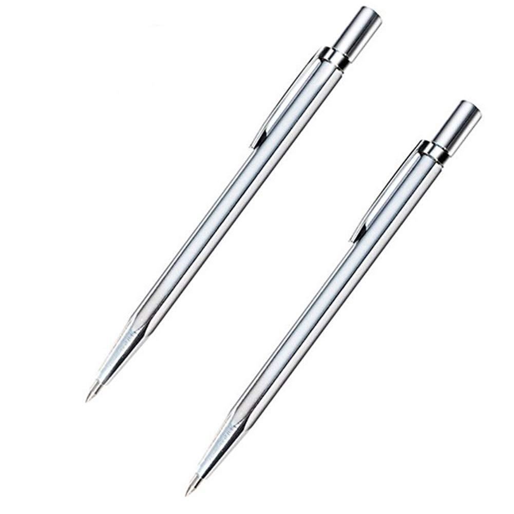 Chiloskit 10PCS 6'' Tungsten Carbide Tip Scriber Etching Pen Carve Jewelry Engraver Metal Tool